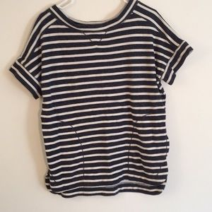 Striped weekend top with pockets